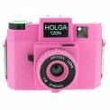 HOLGA 120 N PINK - <p>Le HOLGA 120N est un boitier entièrement plastique, même l'optique (60mm f/11 ou f/8 selon réglage) !!<br />Vous ferez des images uniques avec cet appareil de caractère !</p> <p>Rien de plus simple à prendre en main, une mise au point au jugé avec 4 modes (portrait, petit groupe, grand groupe, infini), deux ouvertures (f/11 ou f/8), une griffe porte flash, une vitesse d'obturation de 1/100ème et une pose B (bulb), vous pourrez faire deux formats d'image (6x6 ou 6x4.5) avec les différents caches fournis.</p>