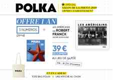 """Abonnement 1 an - Offre abonnement 1 an à 39 euros.  Détail : 3 numéros + """"Les Américains"""" de Robert Franck (Editions Delpire) + Une affiche + Un Tote Bag."""