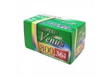 FUJI SUPERIA VENUS 800 - <p>Un film négatif couleurau grain fin polyvalent, il bénéficie de magnifiques couleurs et d'une superbe netteté avec son équilibre des ombres et des lumières, même en faible luminosité.<br /><br />Film de 800 ISO, vous obtiendrez d'excellents résultats dans une grande variété d'utilisations, la FUJIFILM VENUS 800 estidéal pour les actions sportives rapides, la photographie sans flash et pour l'usage courant avec un appareil photo compact à objectif zoom.<br /><br />Il a également une bonne stabilité aux variations de traitement.</p>