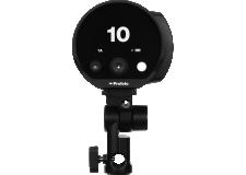 Profoto B10 - Le Profoto B10 est le flash Off-Camera le plus petit et le plus léger de sa gamme. Il est cinq fois plus puissant qu'un flash cobra et n'est pas plus grand qu'un objectif photo. Vous pouvez également faire de la vidéo grâce à sa source de lumière continue intégrée. Le Profoto B10 est un flash réellement puissant dans un petit boîtier.  Le B10 est proposé en version 250 Ws et est disponible dans deux kits différents : le B10 avec une seule tête et le B10 Duo Kit avec deux têtes.