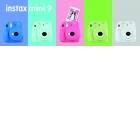 Appareils photo Instantanés : Instax Mini 9 - <p>Dernier né de la famille Instax Mini, l'instax Mini 9, à la pointe de la tendance, se pare de cinq nouvelles couleurs pop et de deux nouvelles fonctionnalités.</p> <p>Rose Corail, Bleu Cobalt, Blanc Cendré, Bleu Givré ou encore Vert Citron, autant de couleurs qui évoquent la saison estivale : de Palm Springs et ses couleurs pastels, au bleu de la mer Tyrrhénienne à Capri, du blanc des villages des Cyclades ou encore au vert des forêts tropicales… Ces nouveaux modèles sont définitivement les compagnons de voyage à emporter partout!</p> <p>Avec ses couleurs fraîches et pétillantes, et son design emblématique, la famille Instax s'agrandit pour faire de cet appareil photo instantané, le must have des fêtes de fin d'annéepour immortaliser tous ces plus beaux instants en famille ou entre amis.</p>