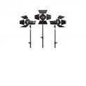 APUTURE LS MINI20d Kit - <p>Kit de 3 mini fresnels ultra compacts et puissants pour trerrain ou studio, 30W, IRC 96, monture V, trépieds inclus.</p>