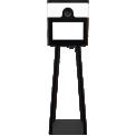 Yodabooth PRIME - La Prime est un photobooth «tout-en-un» qui trouvera sa place sur n'importe quel event. La tête de la borne comprend un appareil photo Canon 2000D et un éclairage LED glamour pour des images magnifiques et une fonctionnalité sans faille. Une imprimante DNP DS620 est intégrée dans la partie supérieure de la machine. La construction est tout en métal et est soutenue par quatre pieds robustes. Mieux encore, tout fonctionne avec une seule prise.  Le dessus du Prime est entièrement magnétique et peut être doté d'un panneau magnétique amovible.