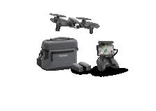 ANAFI EXTENDED - L'ANAFI EXTENDED est une version pack de l'ANAFI avec différents accessoires. Il contient 1 drone ANAFI, sa télécommande lui permettant une portée jusqu'à 4km, 8 pales d'hélices supplémentaires, 2 batteries supplémentaires (total : 1h15 de vol avec les 3 batteries) et son sac de transport