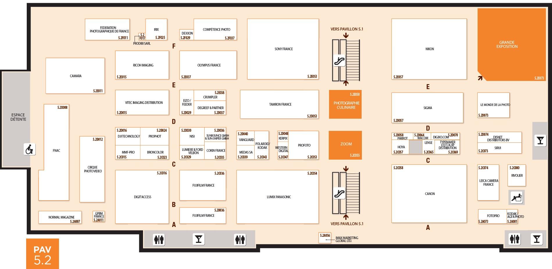 Plan du Salon de la Photo 5.2