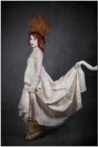 Femme en costume baroque